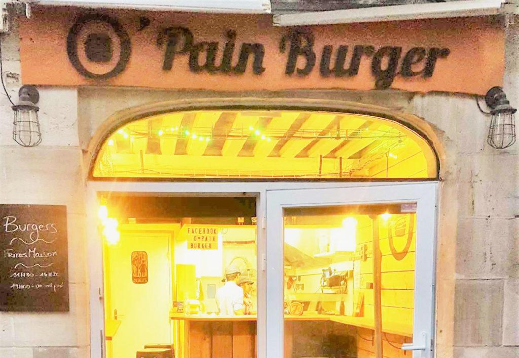 O pain burger à Caen
